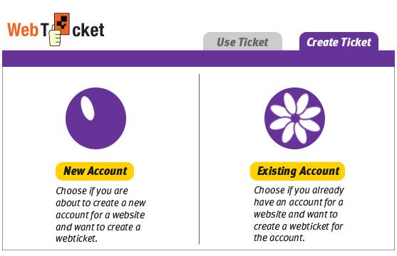 Web Ticket interface