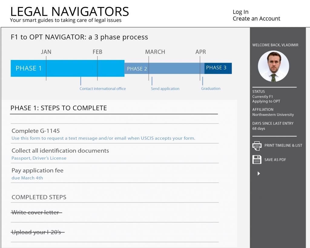 Process Guide Concept Design - Legal Navigator mockup 4-01-01